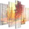 Tableau - Autumn Sun (5 Parts) Wide fait partie des tableaux murales de la collection de worldofwomen découvrez ce magnifique tableau exclusif chez nous