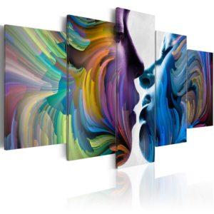 Tableau - Baiser des couleurs fait partie des tableaux murales de la collection de worldofwomen découvrez ce magnifique tableau exclusif chez nous