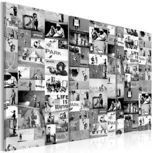 Tableau - Banksy: Graffiti Collage III fait partie des tableaux murales de la collection de worldofwomen découvrez ce magnifique tableau exclusif chez nous