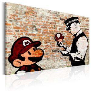 Tableau - Banksy: Police Caution fait partie des tableaux murales de la collection de worldofwomen découvrez ce magnifique tableau exclusif chez nous
