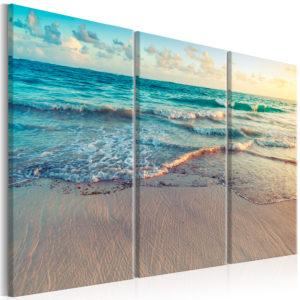 Tableau - Beach in Punta Cana (3 Parts) fait partie des tableaux murales de la collection de worldofwomen découvrez ce magnifique tableau exclusif chez nous