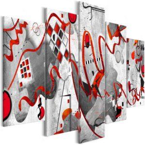 Tableau - Between Waves (5 Parts) Wide fait partie des tableaux murales de la collection de worldofwomen découvrez ce magnifique tableau exclusif chez nous