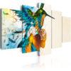 Tableau - Bird's music - 5 pieces fait partie des tableaux murales de la collection de worldofwomen découvrez ce magnifique tableau exclusif chez nous