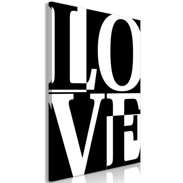 Tableau - Black and White: Love (1 Part) Vertical fait partie des tableaux murales de la collection de worldofwomen découvrez ce magnifique tableau exclusif chez nous