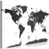 Tableau - Black and White Map (1 Part) Wide fait partie des tableaux murales de la collection de worldofwomen découvrez ce magnifique tableau exclusif chez nous