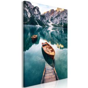 Tableau - Boats In Dolomites (1 Part) Vertical fait partie des tableaux murales de la collection de worldofwomen découvrez ce magnifique tableau exclusif chez nous