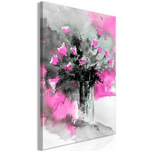 Tableau - Bouquet of Colours (1 Part) Vertical Pink fait partie des tableaux murales de la collection de worldofwomen découvrez ce magnifique tableau exclusif chez nous