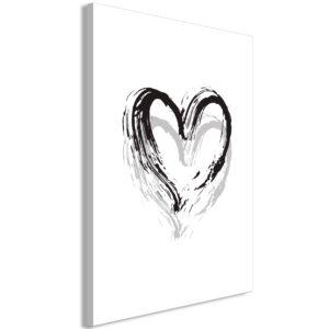 Tableau - Brush Heart (1 Part) Vertical fait partie des tableaux murales de la collection de worldofwomen découvrez ce magnifique tableau exclusif chez nous