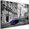 Tableau - Car in Paris (1 Part) Blue Wide fait partie des tableaux murales de la collection de worldofwomen découvrez ce magnifique tableau exclusif chez nous