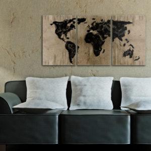 Tableaux > Cartes du monde ce catalogue des tableaux déco pour tout types de murs et prêt à poser