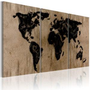 Tableau - Carte du monde en encre fait partie des tableaux murales de la collection de worldofwomen découvrez ce magnifique tableau exclusif chez nous