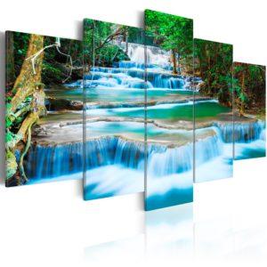 Tableau - Cascade bleue à Kanchanaburi