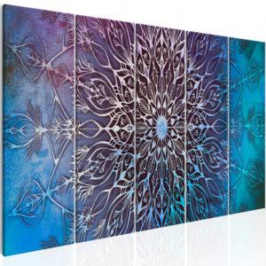 Tableau - Center (5 Parts) Narrow Blue fait partie des tableaux murales de la collection de worldofwomen découvrez ce magnifique tableau exclusif chez nous