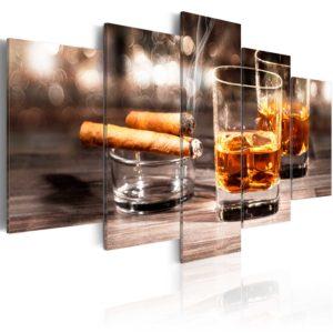 Tableau - Cigar and whiskey fait partie des tableaux murales de la collection de worldofwomen découvrez ce magnifique tableau exclusif chez nous