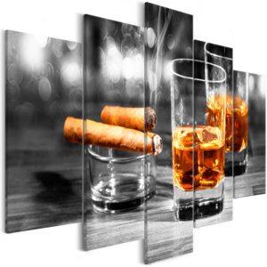 Tableau - Cigars and Whiskey (5 Parts) Wide fait partie des tableaux murales de la collection de worldofwomen découvrez ce magnifique tableau exclusif chez nous