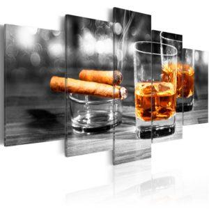Tableau - Cigars and whiskey fait partie des tableaux murales de la collection de worldofwomen découvrez ce magnifique tableau exclusif chez nous