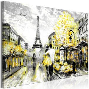 Tableau - Colourful Rendez-Vous (1 Part) Wide Yellow fait partie des tableaux murales de la collection de worldofwomen découvrez ce magnifique tableau exclusif chez nous