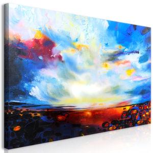 Tableau - Colourful Sky (1 Part) Wide fait partie des tableaux murales de la collection de worldofwomen découvrez ce magnifique tableau exclusif chez nous