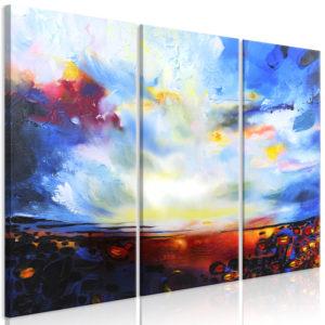 Tableau - Colourful Sky (3 Parts) fait partie des tableaux murales de la collection de worldofwomen découvrez ce magnifique tableau exclusif chez nous