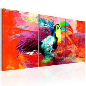 Tableau - Colourful Toucan fait partie des tableaux murales de la collection de worldofwomen découvrez ce magnifique tableau exclusif chez nous