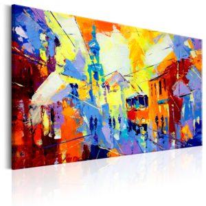 Tableau - Colours of the City fait partie des tableaux murales de la collection de worldofwomen découvrez ce magnifique tableau exclusif chez nous