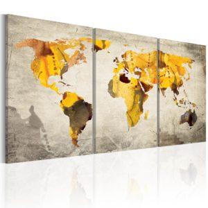 Tableau - Continents jaunes fait partie des tableaux murales de la collection de worldofwomen découvrez ce magnifique tableau exclusif chez nous