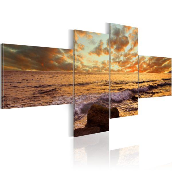 Tableau - Coucher de soleil sur la mer fait partie des tableaux murales de la collection de worldofwomen découvrez ce magnifique tableau exclusif chez nous