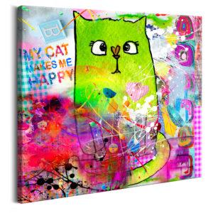 Tableau - Crazy Cat fait partie des tableaux murales de la collection de worldofwomen découvrez ce magnifique tableau exclusif chez nous