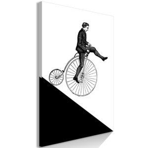 Tableau - Cyclist (1 Part) Vertical fait partie des tableaux murales de la collection de worldofwomen découvrez ce magnifique tableau exclusif chez nous