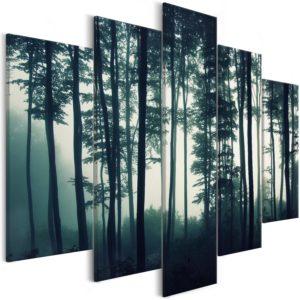 Tableau - Dark Forest (5 Parts) Wide fait partie des tableaux murales de la collection de worldofwomen découvrez ce magnifique tableau exclusif chez nous