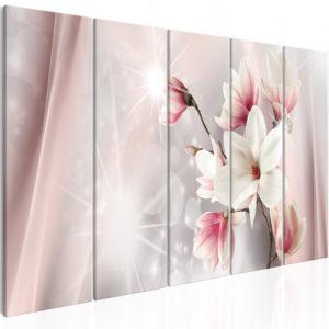 Tableau - Dazzling Magnolias (5 Parts) Narrow fait partie des tableaux murales de la collection de worldofwomen découvrez ce magnifique tableau exclusif chez nous