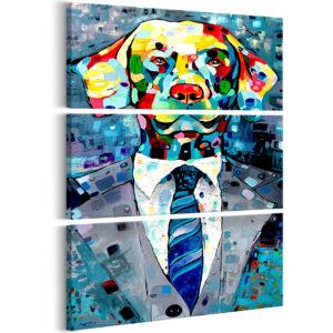 Tableau - Dog in a Suit (3 Parts) fait partie des tableaux murales de la collection de worldofwomen découvrez ce magnifique tableau exclusif chez nous