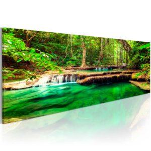 Tableau - Emerald Waterfall fait partie des tableaux murales de la collection de worldofwomen découvrez ce magnifique tableau exclusif chez nous