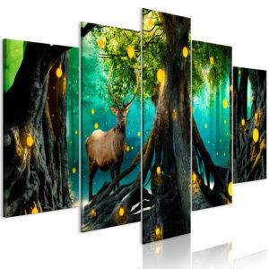 Tableau - Enchanted Forest (5 Parts) Wide fait partie des tableaux murales de la collection de worldofwomen découvrez ce magnifique tableau exclusif chez nous