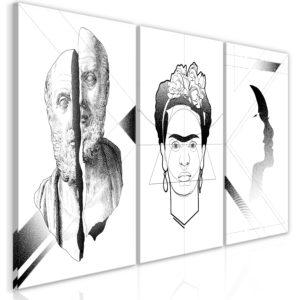 Tableau - Facial Composition (3 Parts) fait partie des tableaux murales de la collection de worldofwomen découvrez ce magnifique tableau exclusif chez nous