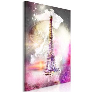 Tableau - Fairytale Paris (1 Part) Vertical fait partie des tableaux murales de la collection de worldofwomen découvrez ce magnifique tableau exclusif chez nous