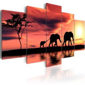 Tableau - Famille des éléphents fait partie des tableaux murales de la collection de worldofwomen découvrez ce magnifique tableau exclusif chez nous