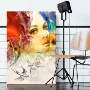 Tableaux > Personnages > Portraits ce catalogue des tableaux déco pour tout types de murs et prêt à poser