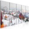 Tableau - First Snow (5 Parts) Narrow fait partie des tableaux murales de la collection de worldofwomen découvrez ce magnifique tableau exclusif chez nous