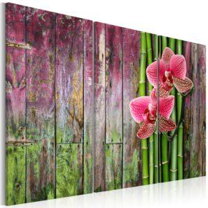 Tableau - Fleur et bambou fait partie des tableaux murales de la collection de worldofwomen découvrez ce magnifique tableau exclusif chez nous