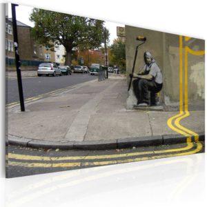 Tableau - Fleur jaune (Banksy) fait partie des tableaux murales de la collection de worldofwomen découvrez ce magnifique tableau exclusif chez nous