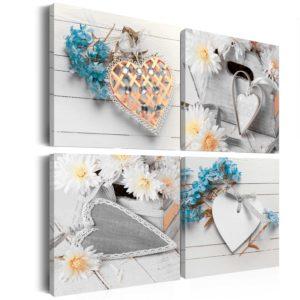 Tableau - Flowers and hearts fait partie des tableaux murales de la collection de worldofwomen découvrez ce magnifique tableau exclusif chez nous