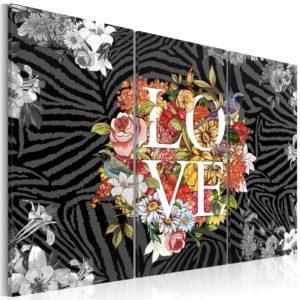 Tableau - Flowers from the heart fait partie des tableaux murales de la collection de worldofwomen découvrez ce magnifique tableau exclusif chez nous