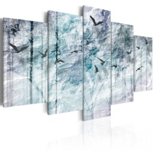Tableau - Forêt bleue fait partie des tableaux murales de la collection de worldofwomen découvrez ce magnifique tableau exclusif chez nous