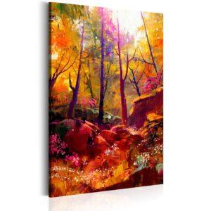 Tableau - Forêt peinte fait partie des tableaux murales de la collection de worldofwomen découvrez ce magnifique tableau exclusif chez nous