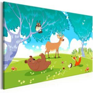 Tableau - Friendly Animals (1 Part) Wide fait partie des tableaux murales de la collection de worldofwomen découvrez ce magnifique tableau exclusif chez nous