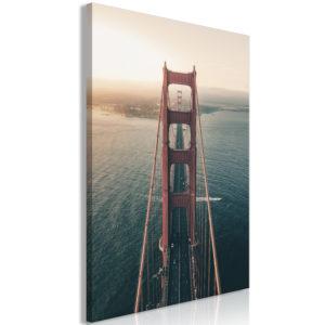 Tableau - Golden Gate Bridge (1 Part) Vertical fait partie des tableaux murales de la collection de worldofwomen découvrez ce magnifique tableau exclusif chez nous
