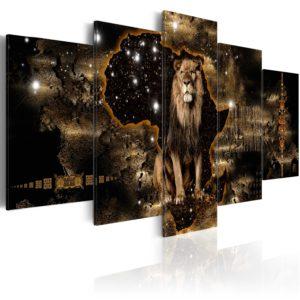 Tableau - Golden Lion fait partie des tableaux murales de la collection de worldofwomen découvrez ce magnifique tableau exclusif chez nous