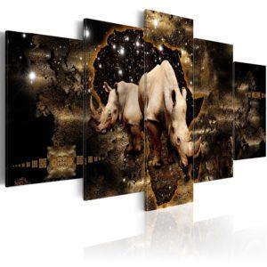 Tableau - Golden Rhino fait partie des tableaux murales de la collection de worldofwomen découvrez ce magnifique tableau exclusif chez nous