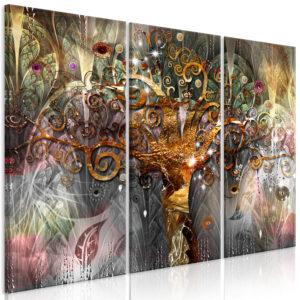 Tableau - Golden Tree (3 Parts) fait partie des tableaux murales de la collection de worldofwomen découvrez ce magnifique tableau exclusif chez nous